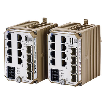 Westermo Lynx switches and device servers for industrial Ethernet.