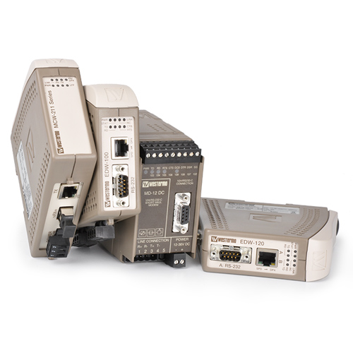 Westermo Industrial serial converters and repeaters.