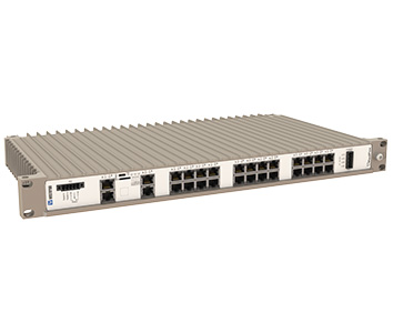 Westermo RedFox-5528-T28G-LV 19 inch Industrial Rackmount Ethernet Switch.